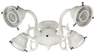 Craftmade F440-AG-LED Ceiling Fan Light Kit Fitter, Medium A19 LED 4-Light 36 Watt, 750 Lumens, Aged Bronze Textured