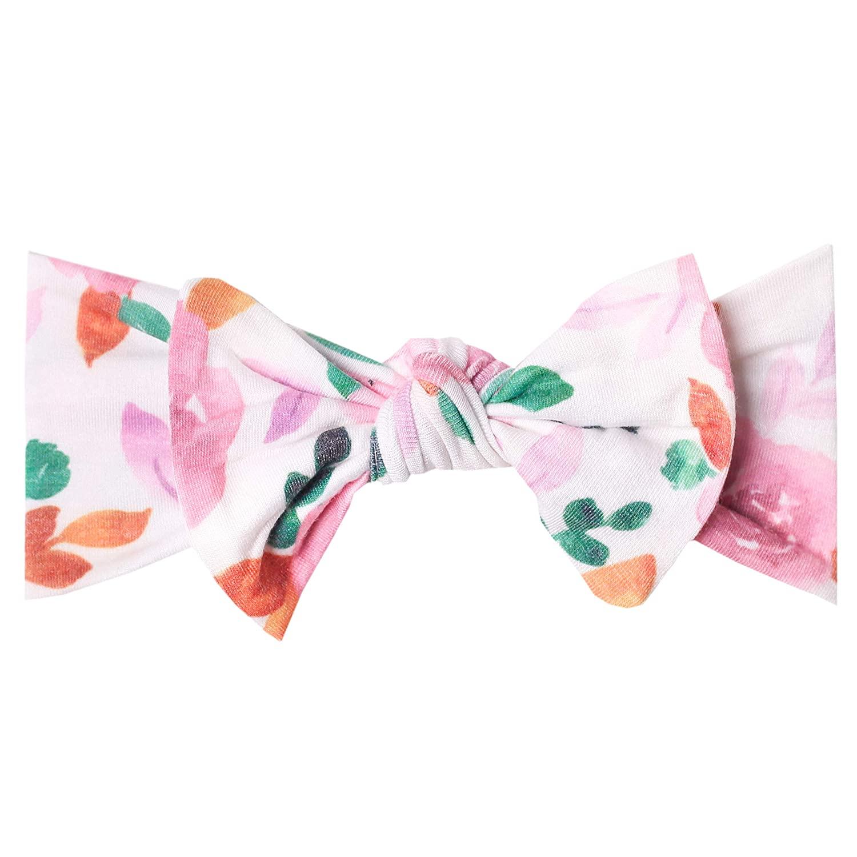 Copper Pearl Baby Stretchy Soft Knit Headband Bow Siena