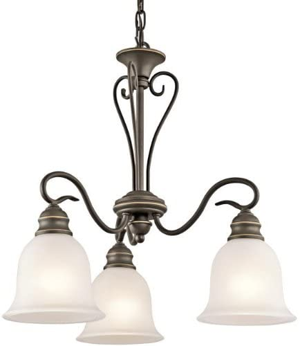 Kichler 42905OZ, Tanglewood Glass Chandelier Lighting, 3 Light, 300 Total Watts, Olde Bronze