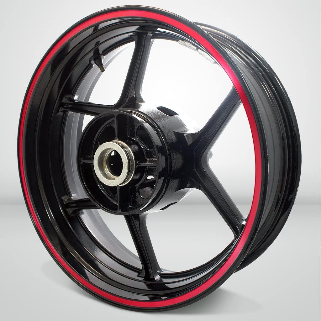 Thick Outer Rim Liner Stripe for Suzuki SV650 Reflective Red