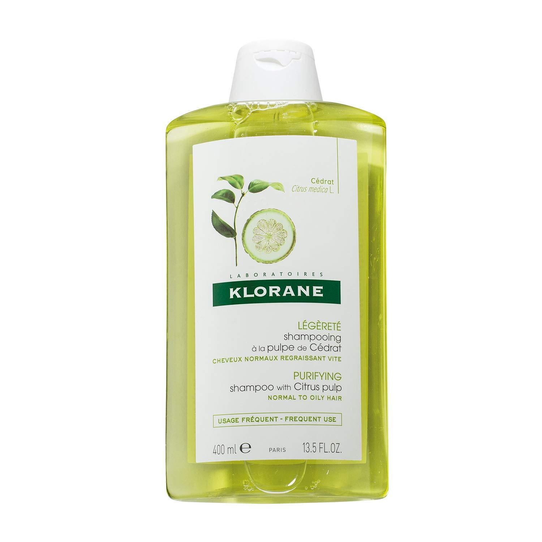Klorane Clarifying Shampoo with Citrus Pulp, Detoxifies Hair & Scalp, Removes Buildup, Neutralizes Hard Water, Paraben, SLS Free