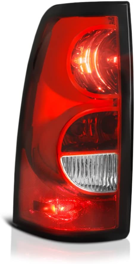 VIPMOTOZ Driver Side Red Lens OE-Style Left Tail Light Housing Lamp Assembly Replacement For 2003-2006 Chevy Silverado 1500 2500 3500