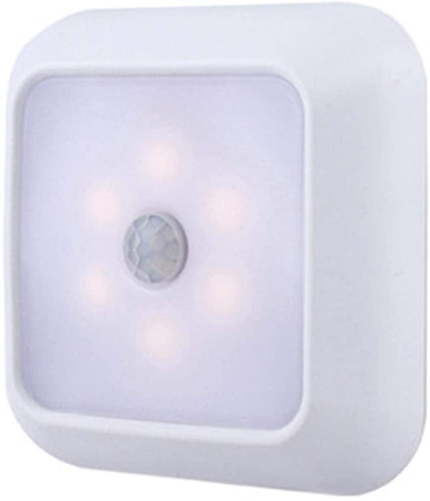 6 LED Motion Sensor Light - Motion Sensor Night Light Wall Closet Cabinet Stair Wireless Lamp for Hallway, Bathroom, Bedroom, Kitchen