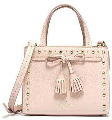Kate Spade Hayes Street Studded Small Sam Ladies Warm Vellum Leather Tote Bag PXRU9066265
