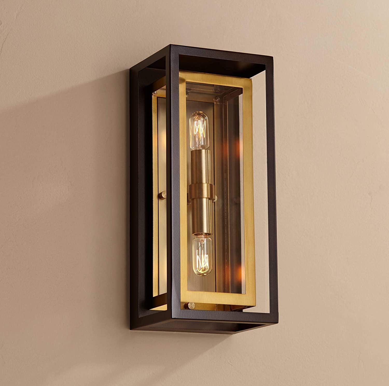Kie Modern Outdoor Wall Light Fixture Oil Rubbed Bronze Brass 14