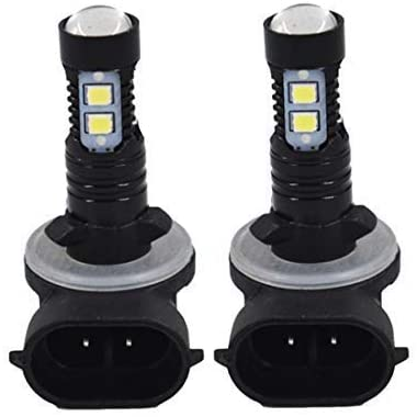 WFLNHB 2pcs High Power 50W Extremely Bright 881 889 6000K Super White LED Fog Lights Bulbs