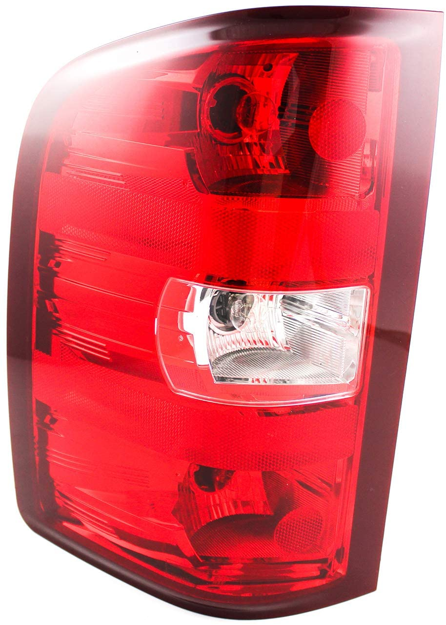 JP Auto Outer Tail Light Compatible With Chevrolet Chevy Silverado 1500 2500 3500 Gmc Sierra 1500 2500 3500 Dual Rear Wheel : 2007-2010 2007 2008 2009 2010 Driver Left Side Taillamp