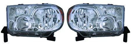 For 2008-2017 Toyota Sequoia Pair Head Lights Driver and Passenger Side TO2502171 TO2503171 - replaces 81150-0C050 81110-0C050