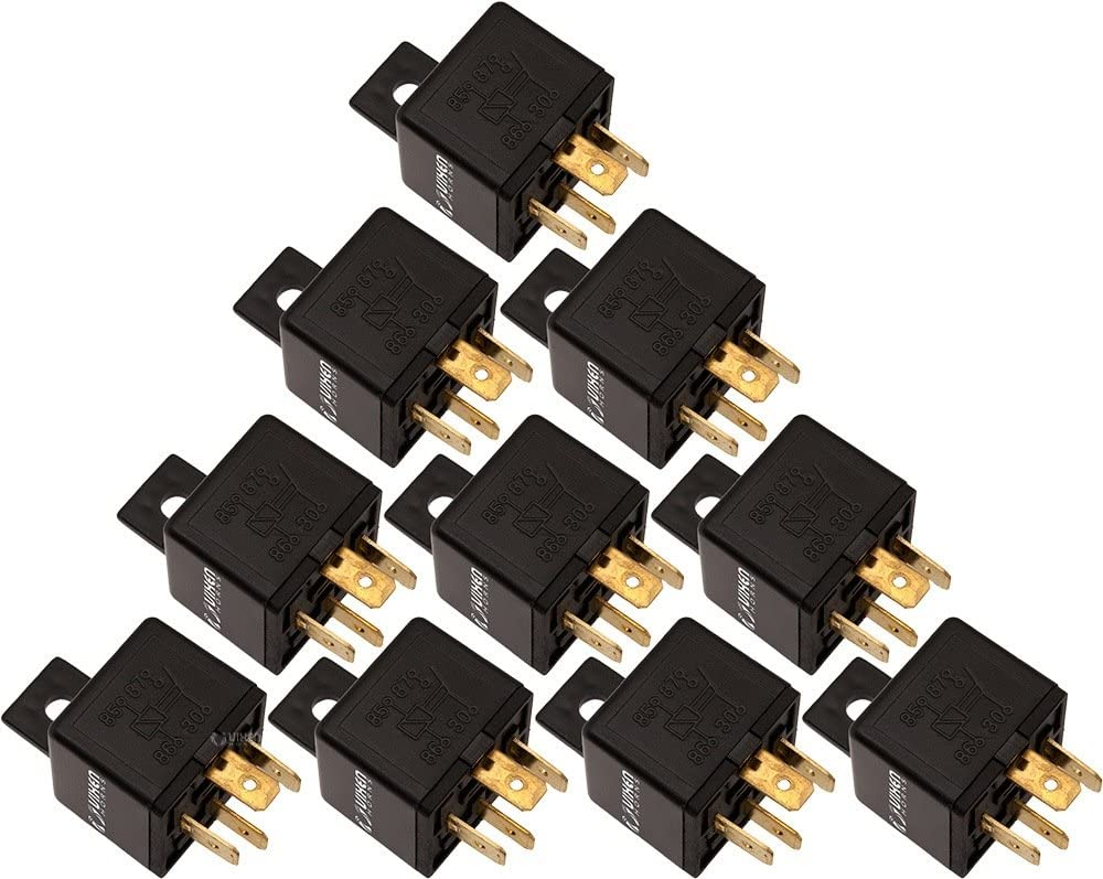 Vixen Horns 4-PIN Horn Relay 30A/12V for Train/Air Horn - Bundle of Ten relays VXA7444-10
