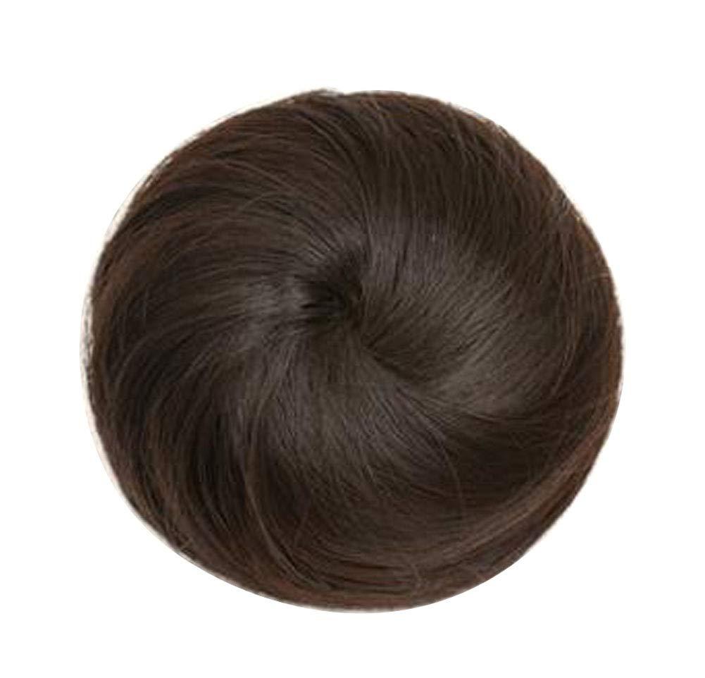 Women Fake Hair Bun Hairpiece Bun Hair Extension Clip #05