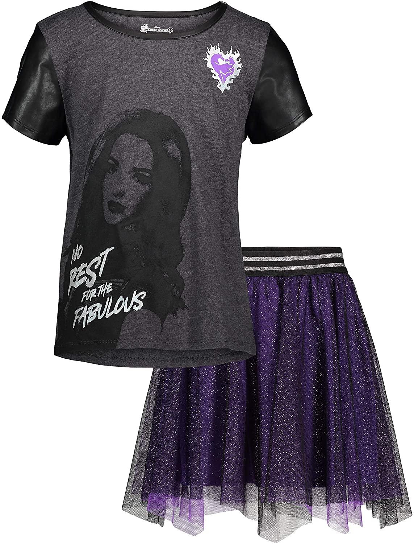 Disney Descendants Girls T-Shirt and Skirt Set