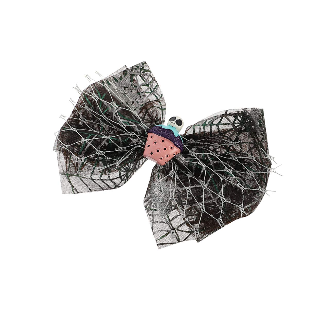 Minkissy Kids Halloween Hair Clip Hair Bow Barrettes Bowknot Hair Pins Skull Hairpin Toddler Halloween Party Hair Accessory for Girls Baby