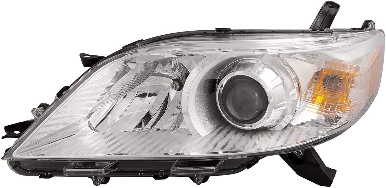 HEADLIGHTSDEPOT Chrome Housing Halogen Headlight Compatible With Toyota Sienna 2011-2018 Includes Left Driver Side Headlamp