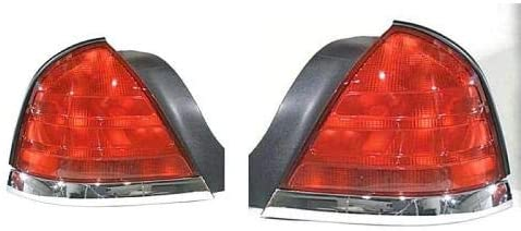Go-Parts - PAIR/SET - for 1999 - 2005 Ford Crown Victoria Rear Tail Lights Lamps Assembly / Lens / Cover - Left & Right (Driver & Passenger) Side - (Base Model + LX + Police Interceptor + S +