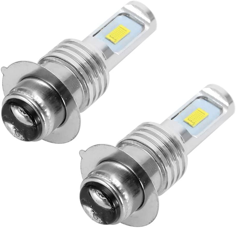 Suuonee Fog Light, 2Pcs 80W 6000K Car White LED Light Bulbs For H6/P15D Fog Light Lamp with Decoder