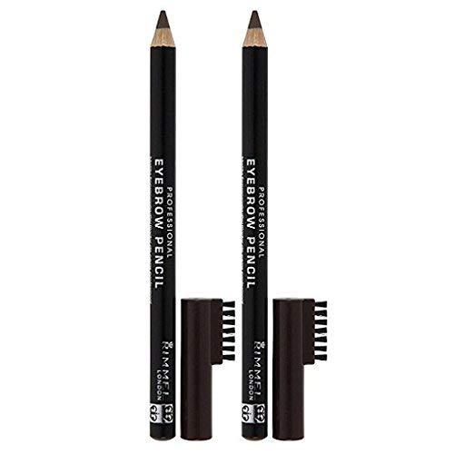 Rimmel London Professional Eyebrow Pencil - Dark Brown - 2 pk