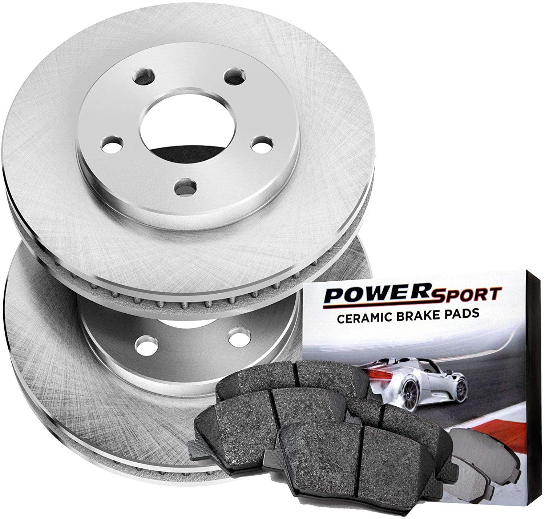 Power Sport Plain Replacement Brake Rotors and Ceramic Brake Pads Kit -80942 [REARS]