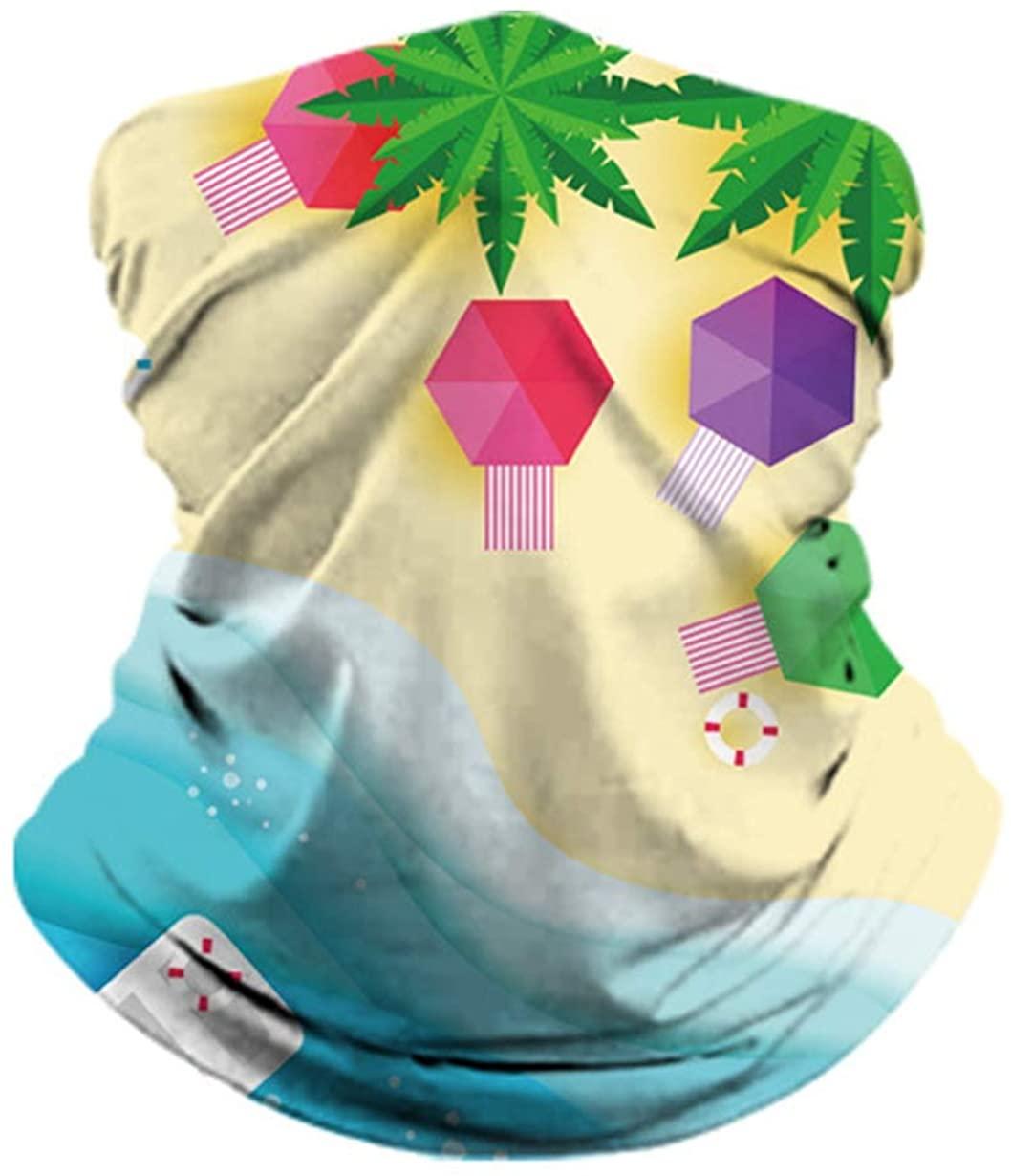 Ocean Beach Fish Roar Headwrap - Men Women Headwear Headband Face Scarf Mask Quick Dry Do Rag Cap Magic Neck Gaiters