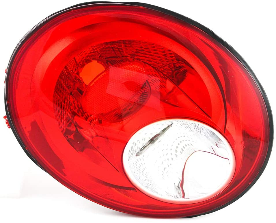 JP Auto Outer Tail Light Compatible With Volkswagen New Beetle 2006 2007 2008 2009 2010 Driver Left Side Taillamp