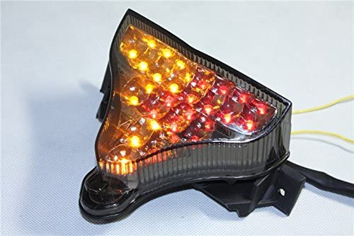 HTTMT MT316- Led Tail Brake Light with Turn Signals Compatible with 2009-2010 Yamaha Yzfr1 Yzf R1 Yzf-R1 Smoke