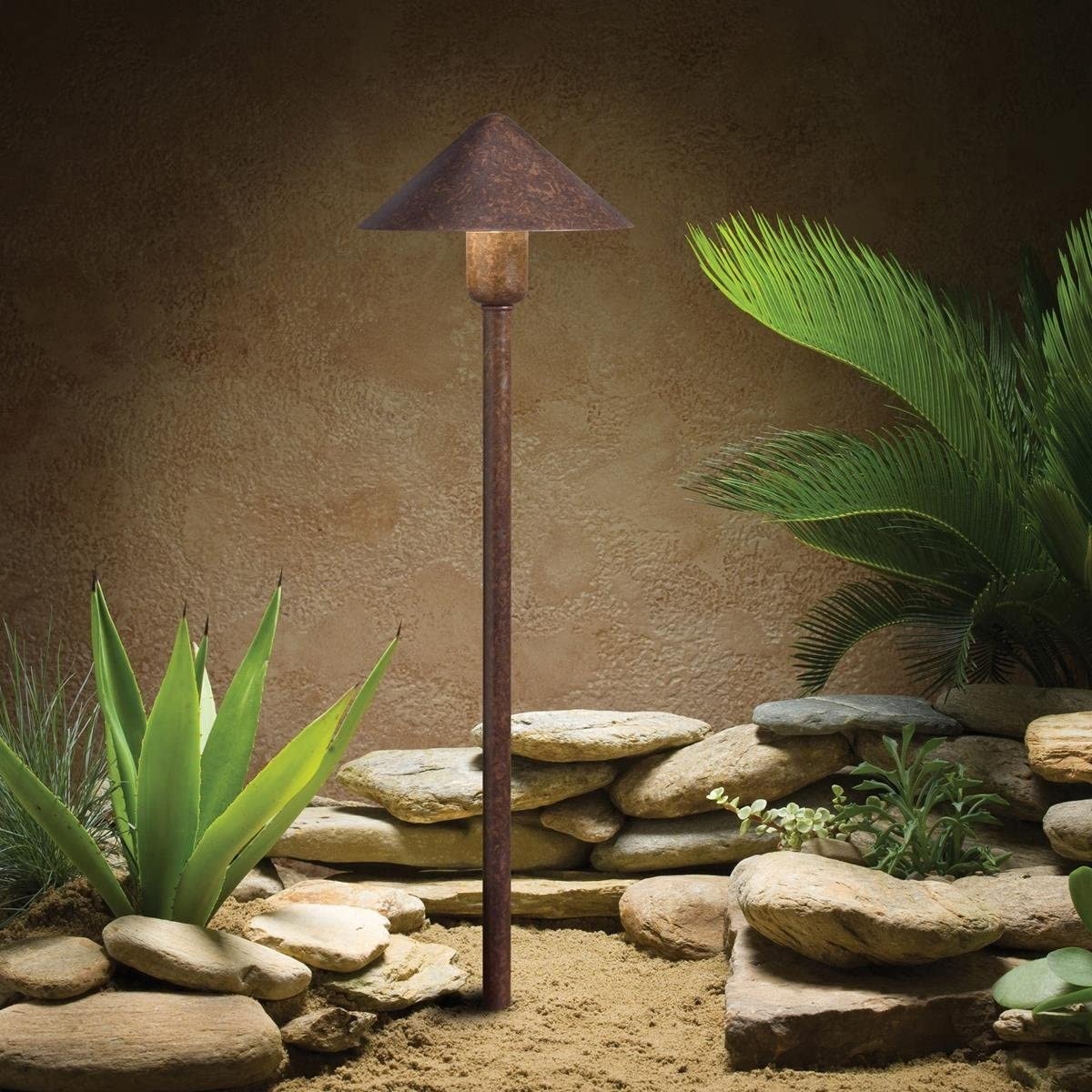 Kichler Lighting 15439TZT Low Voltage One Light Path Lamp, Textured Tannery Bronze Finish