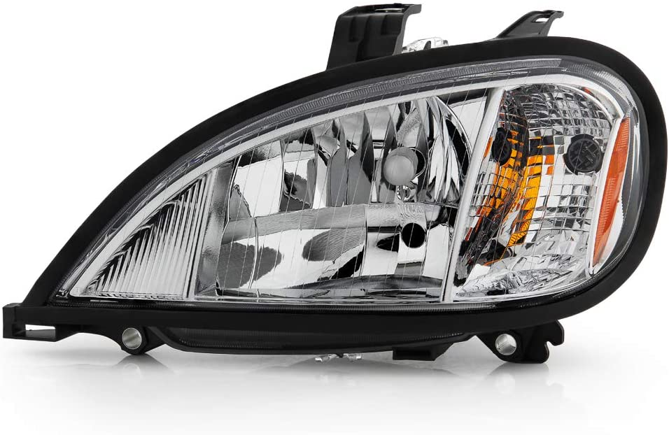 ACANII - For 2004-2017 Freightliner Columbia OE Style Chrome Headlight Headlamps Assembly Replacement Left Driver Side