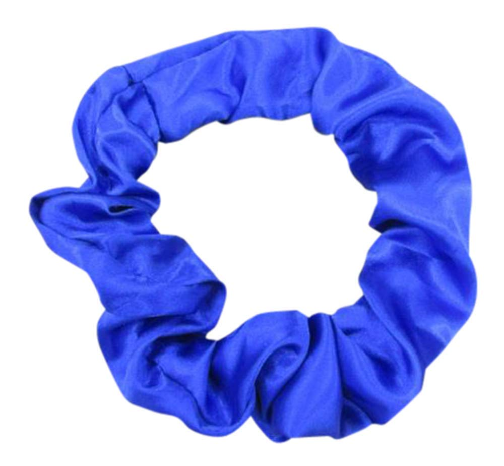 Extra Large Satin Hair Scrunchies (2 Pack) (Blue)