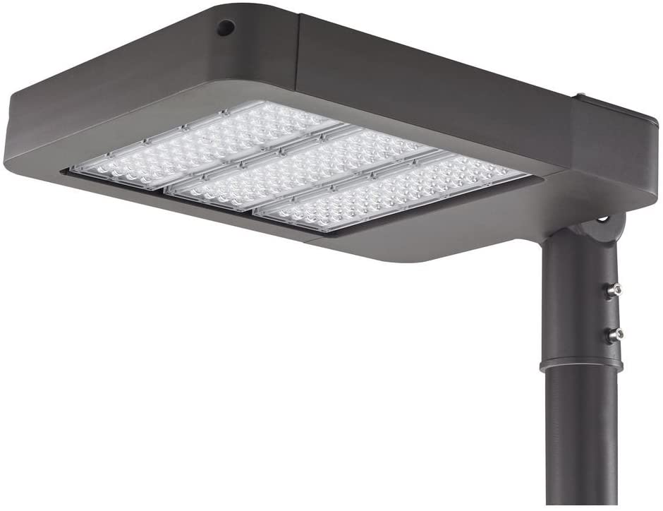 LED Shoebox Area Pole Light Bronze 180-Watt 120v-277v 19800 Lumens 5000K