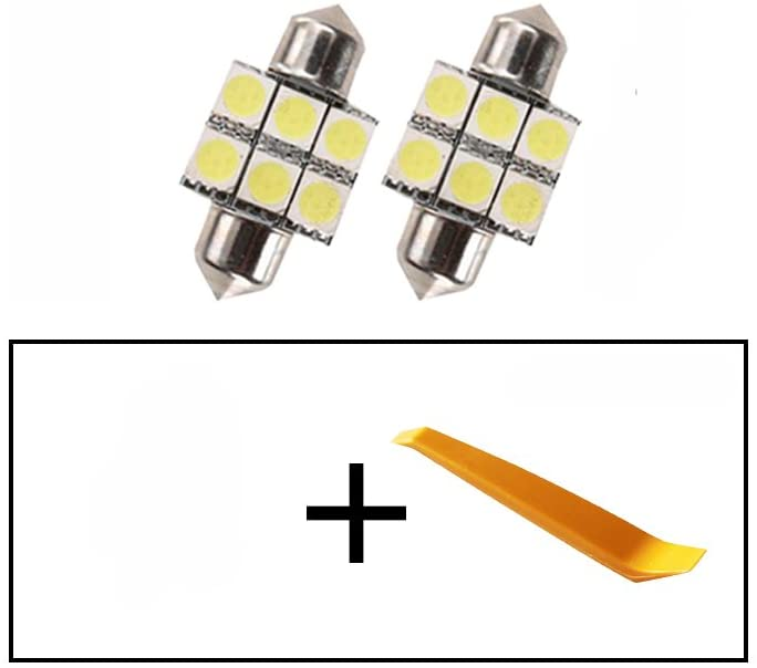 Car Led Bulbs Led Interior Lights Car Led Lights 31mm 6LED 5050SMD White 2pcs