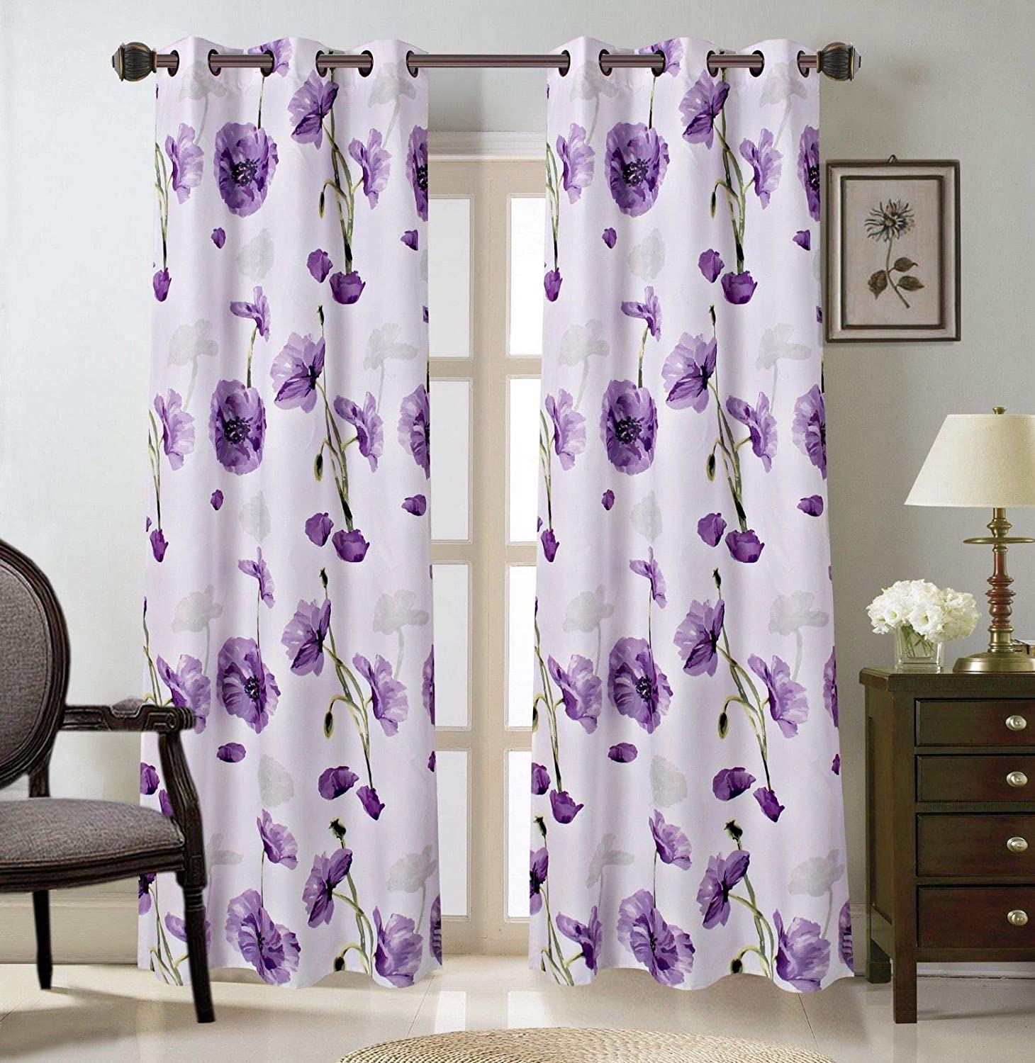 2 Grommet Curtain Panels 37