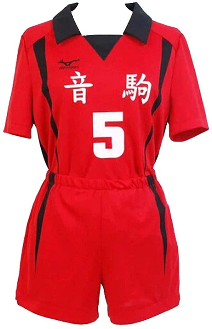 Haikyu Nekoma High School Volleyball Uniform Kozume Kenma Cosplay Costume Sports Shirt Tops and Shorts Tracksuits