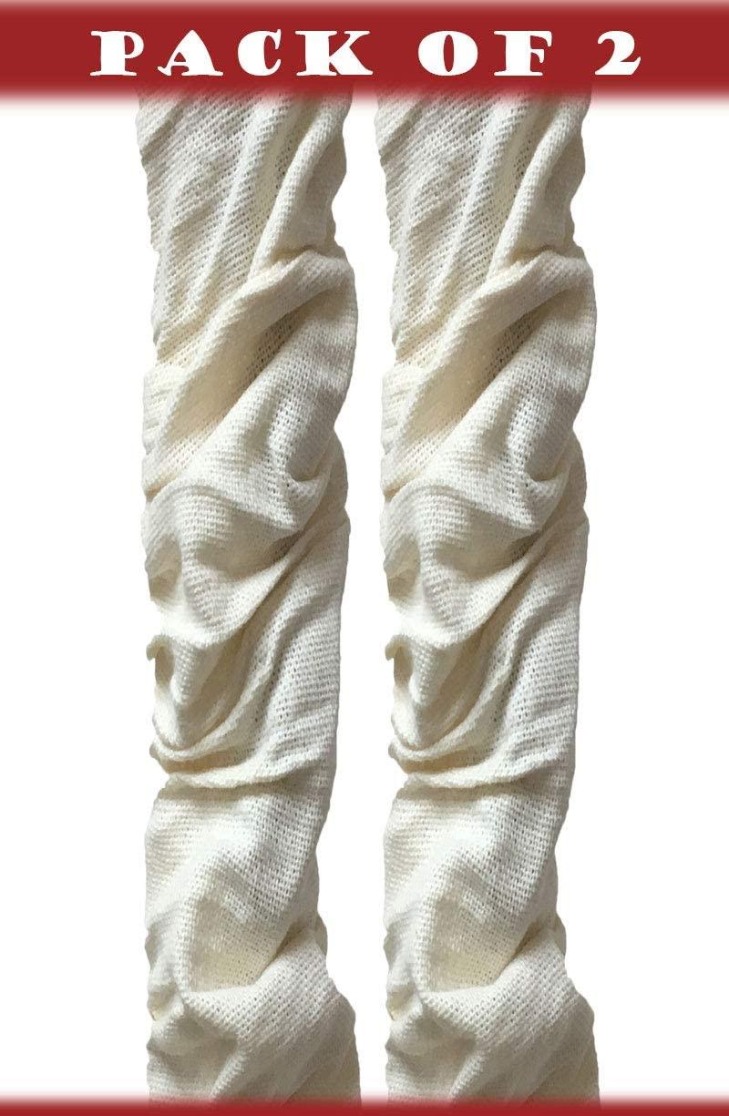 Royal Designs, Inc CC-20-LNEG-2 Cord & Chain Covers, Linen Eggshell, 2 Piece