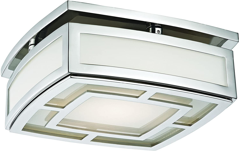 Hudson Valley Lighting 3710-PN Elmore LED 10 InchW Flush Mount, Polished Nickel Finish