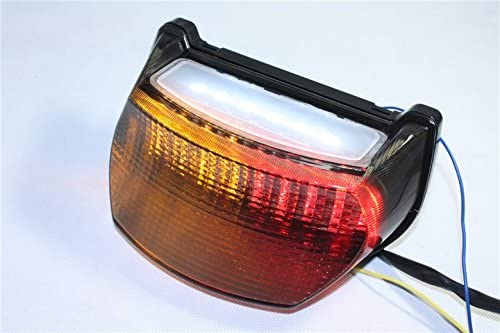 HTTMT MT192- Motorcycle Clear Led Tail Light Brake Light with Integrated Turn Signals Indicators Compatible with Kawasaki Ninja 1996-2003 ZX-7R / ZX750 / ZX-7RR - 1995-1997 GPZ 1100 / ZX1100