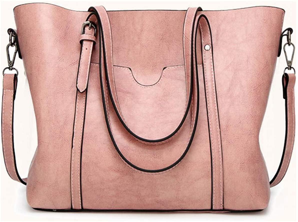 FADPRO Women Retro Tote Bags Top Handle Satchel Handbags Faux Leather Shoulder Zipper Vintage Purse