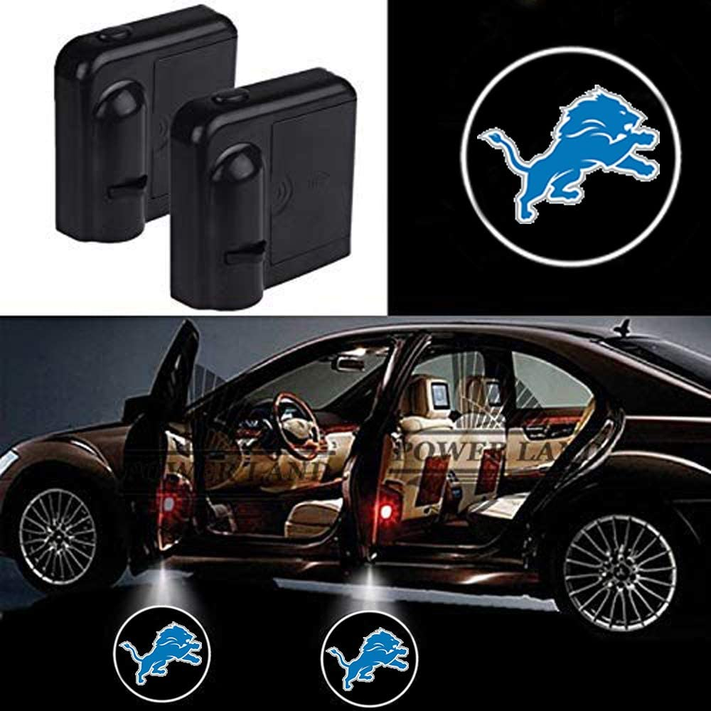 For Detroit Lions Car Door Led Welcome Laser Projector Car Door Courtesy Light Suitable Fit for all brands of cars