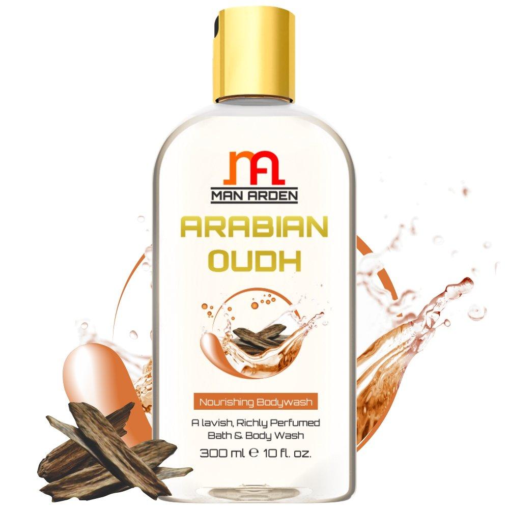 Man Arden Arabian Oudh Body Wash (Rich Moisturising Shower Gel), 300ml