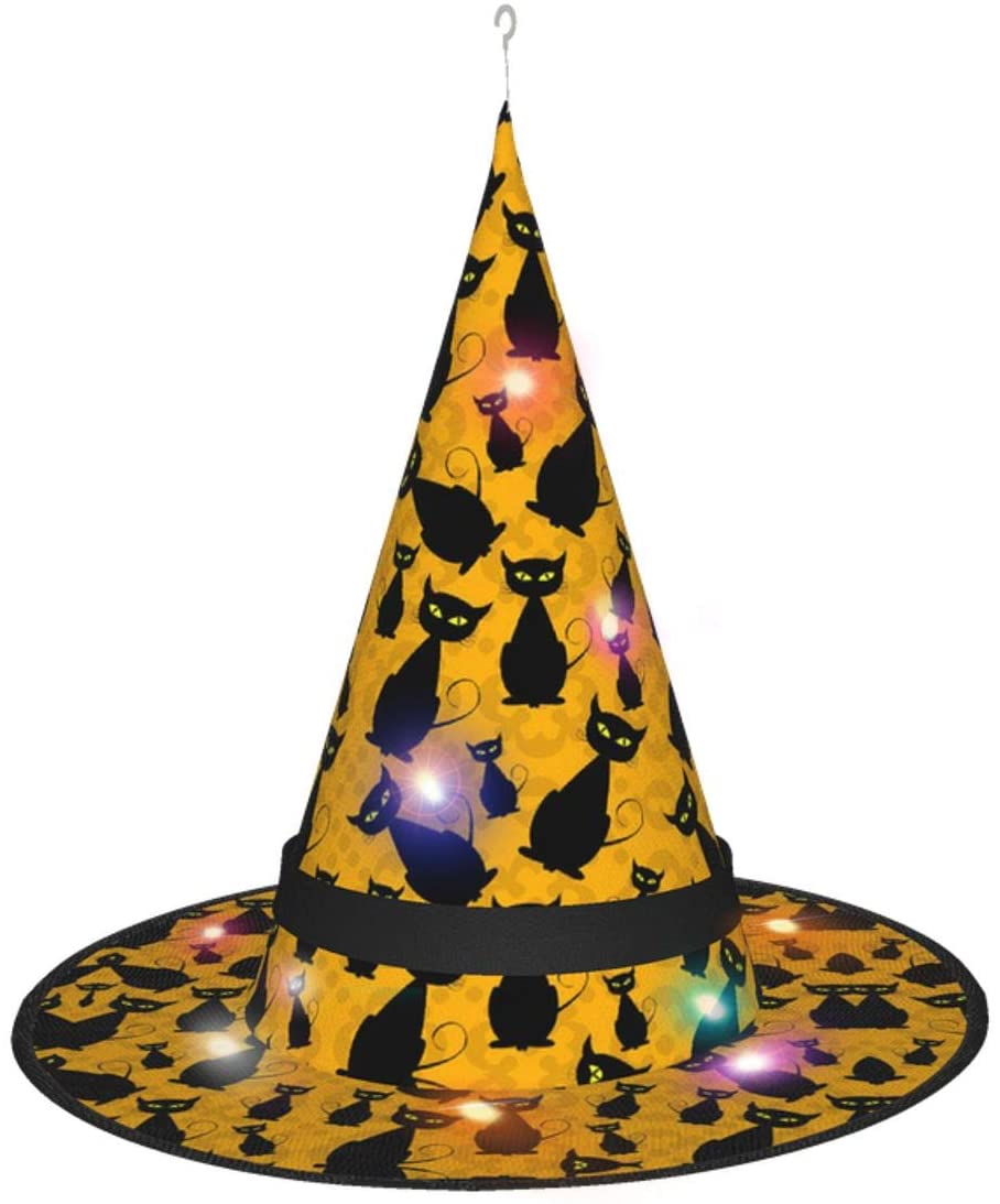 Halloween Peaked Hat Decorative Hat Led Glowing Hat Witch Hat Funny Hat Novel Hat Crazy Hat