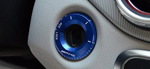 Eppar New Start Button Cover Big for Mercedes Benz C-Class W205 2015-2017 C180 C200 C220 C250 C300 C350 (Blue)