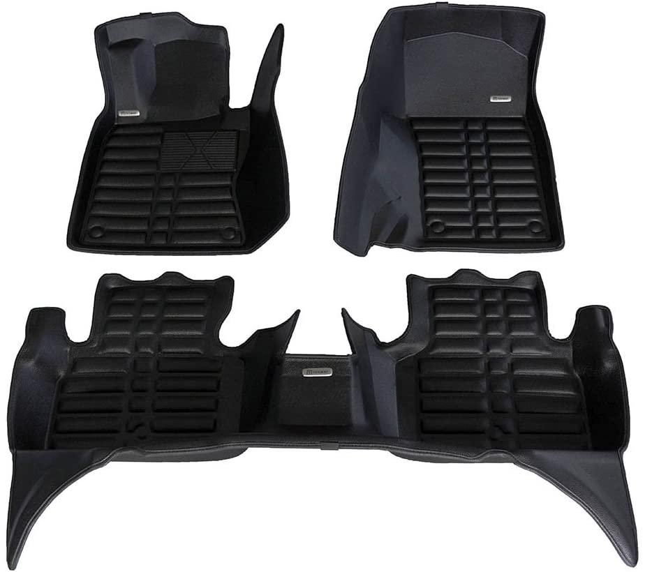 TuxMat Custom Car Floor Mats for Infiniti Q50 2014-2021 Models- Laser Measured, Largest Coverage, Waterproof, All Weather. The BestInfiniti Q50 Accessory. (Full Set - Black)