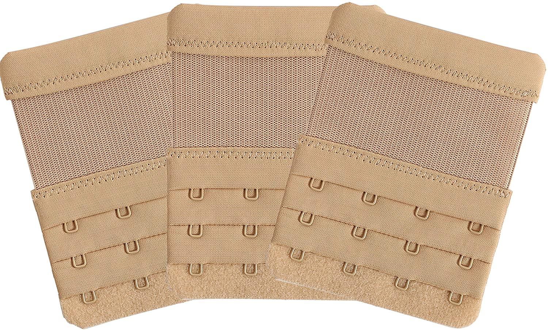 3pcs Women Ladies Soft Comfortable Back Bra 2 Hooks / 3 Hooks / 4 Hooks Band Extension Strap Extender
