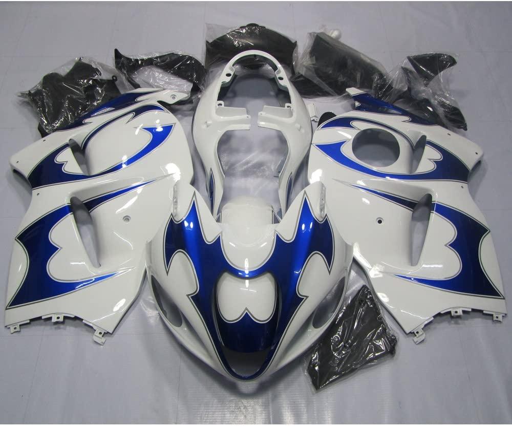 ZXMOTO Blue & Black Painted Fairing Kit for Suzuki Hayabusa GSXR 1300 1997-2007 1998 1999 2000 2001 2002 2003 2004 2005 2006