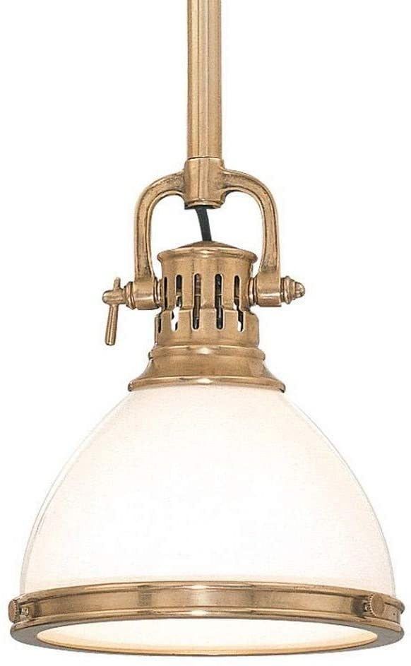 Hudson Valley Lighting 2621-AGB Randolph Collection - One Light Pendant, Aged Brass