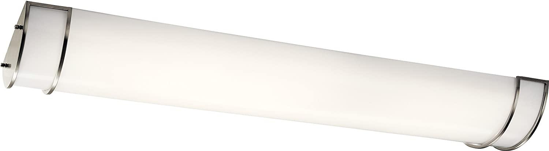 Kichler 11304NILED Flush Mount, 2-Light LED 110 Total Watts, Brushed Nickel