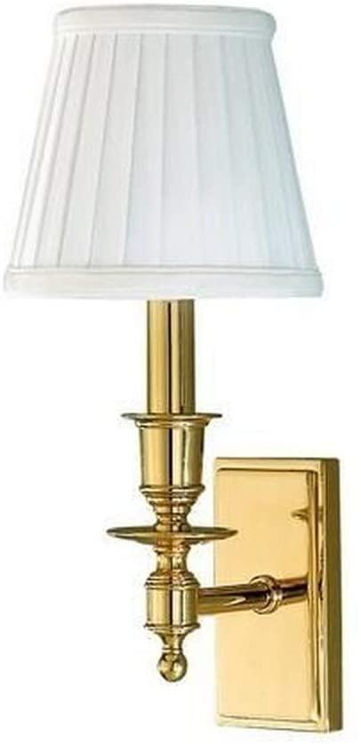 Hudson Valley Lighting 6801-AGB Newport 1 Light Bath Vanity, Aged Brass