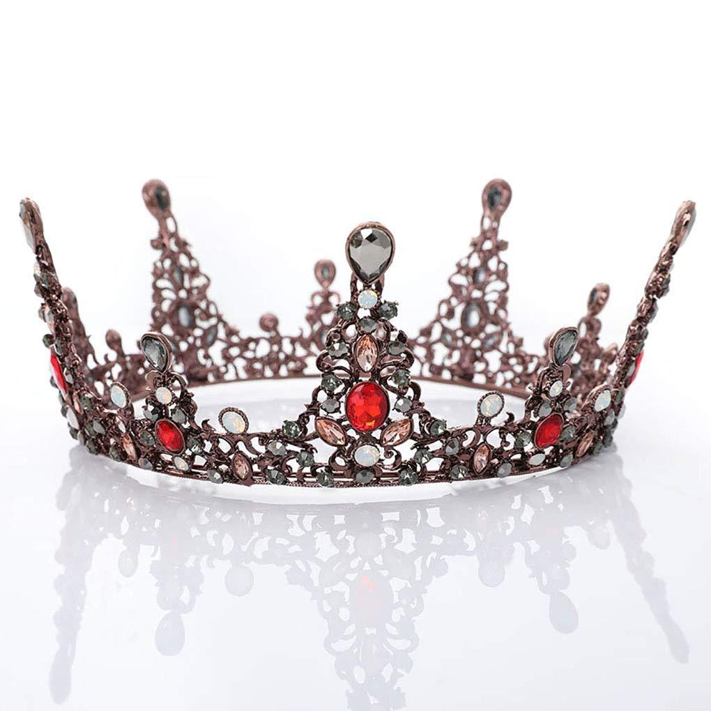 Leiothrix Bride Wedding Flower Crowns and Tiaras Baroque Bridal Queen Hair Accessories Gold for Women Bridemaids (Style Ⅳ)