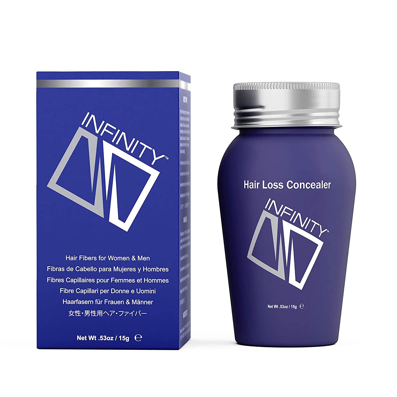 Infinity Hair Fiber - Hair Loss Concealer - Hair Thickening Fiber for Men & Women - Dark Blonde, 15g