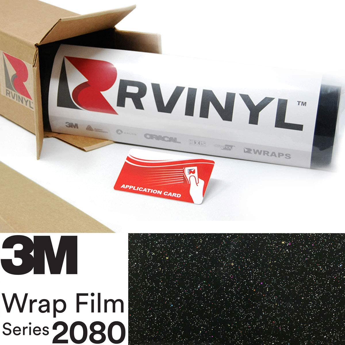 3M 2080 GP292 Gloss Galaxy Black 5ft x 21ft W/Application Card Vinyl Vehicle Car Wrap Film Sheet Roll