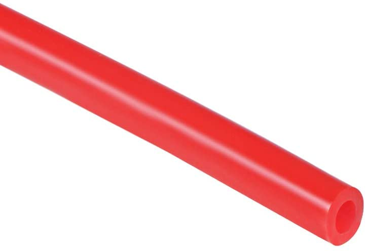 uxcell Silicone Tubing, 5mm ID x 9mm OD 6.6ft Rubber Tube Air Hose Water Pipe for Pump Transfer, Red