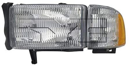 Fits 1994-2002 Dodge Ram 1500/2500/3500 Headlight Driver Side w/o Sport CAPA For CH2502101 - Replaces 55076749AO